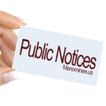 Public Hearing – City of Menominee Ordinance Code Adoption (05/18/2020)