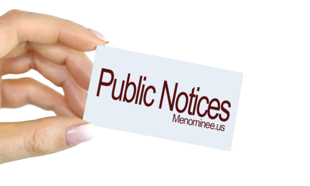 City of Menominee is Seeking Sealed Bids (04/16/2021)