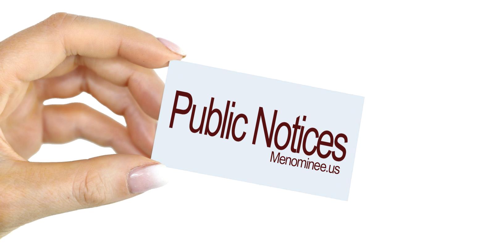 Public Notices - Menominee.us